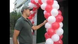 Арка на каркасе секциями  из воздушных шаров (Arch on the frame sections from balloons)(Арка на каркасе секциями из воздушных шаров(Arch on the frame sections from balloons) - 8,5