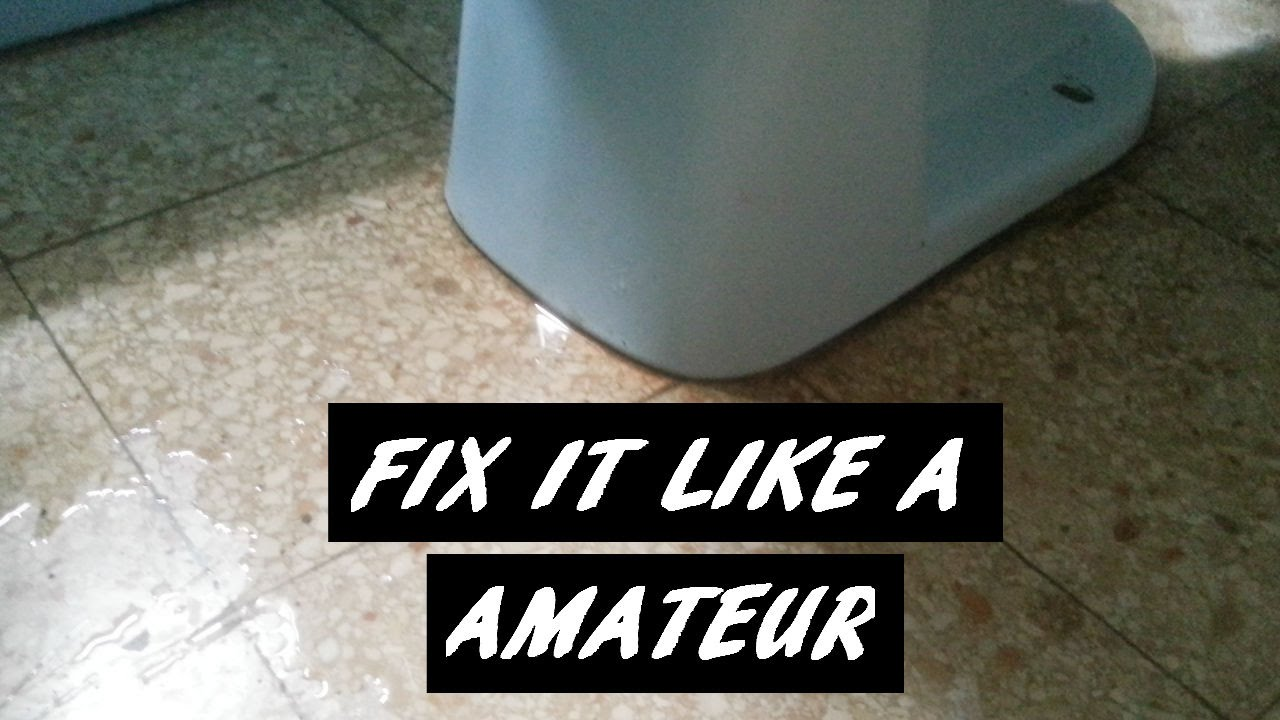 How To Fix A Leaking Toilet Bowl Base You