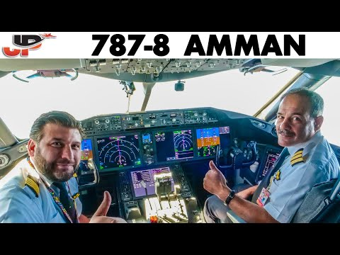 Piloting BOEING 787 out of Amman | Cockpit Views