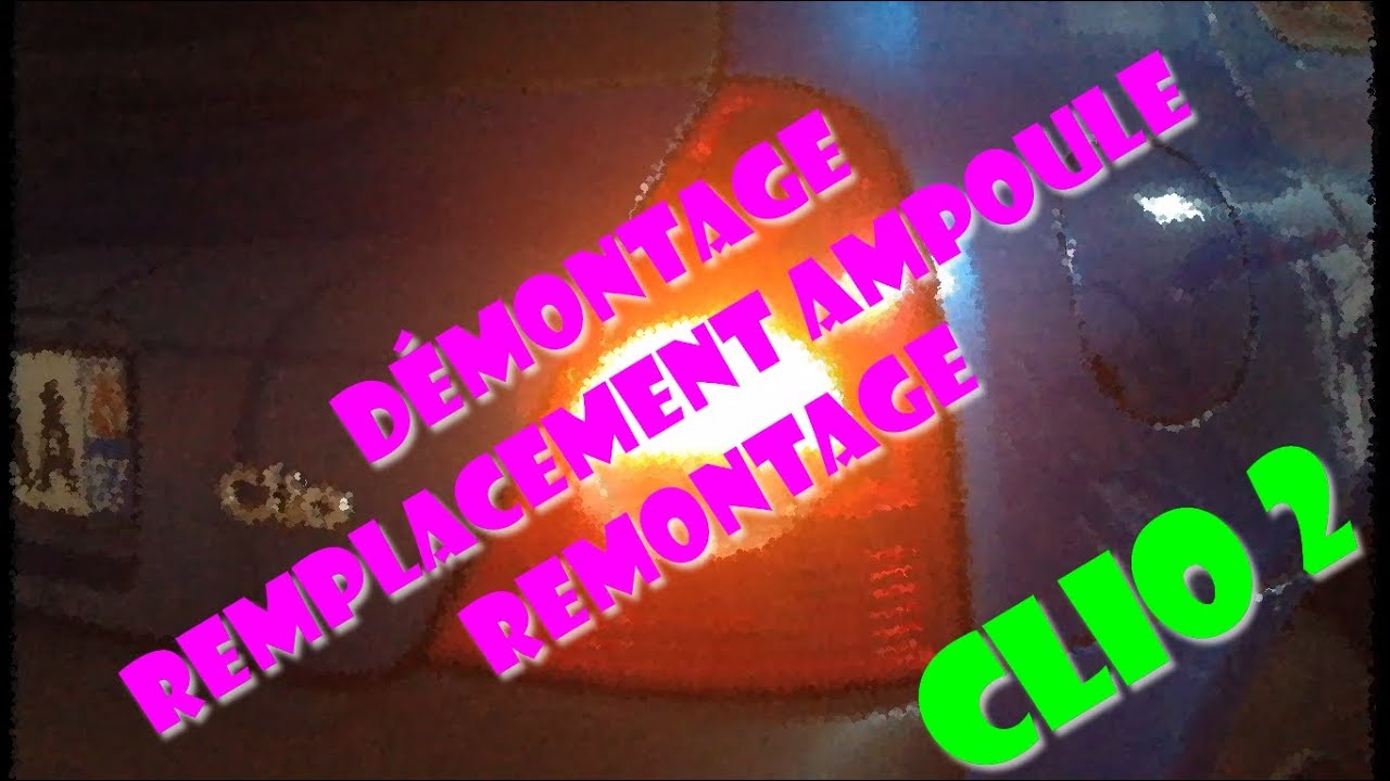 tutoriel d montage et remontage feu arri re clio 2 youtube. Black Bedroom Furniture Sets. Home Design Ideas