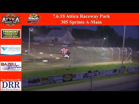 7.6.18 Attica Raceway Park 305 Sprints A-Main