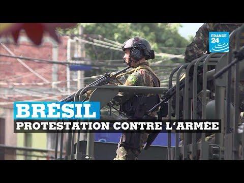 Brésil : protestation contre l'armée