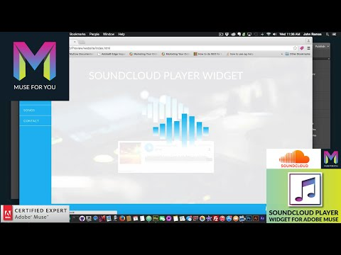 Creating a Music Website  Adding SoundCloud and Edge Animate  Adobe Muse CC  Muse For You