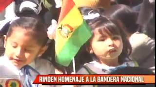 RINDEN HOMENAJE A LA BANDERA NACIONAL