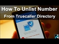 How To Unlist/Remove Number From Truecaller Directory List
