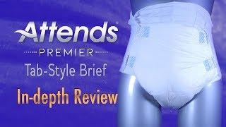 Attends® Premier Brief In Depth Review #adultdiaper