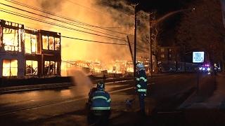 Maplewood,NJ Fire Department Multiple Alarm Fire  2/4/17