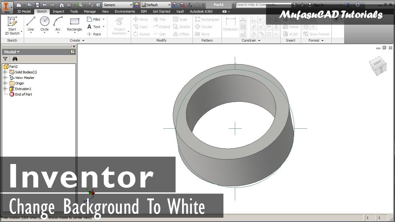 Change Inventor Background To White | Basic Tutorial