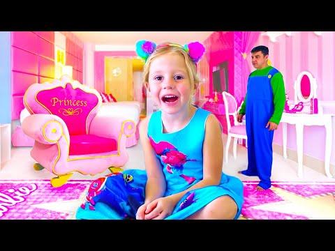 Nastya et sa nouvelle chambre rose, Salle de jeux pour les enfants