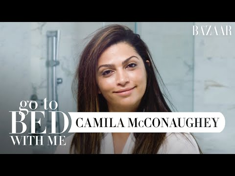 Camila McConaughey's Nighttime Skincare Routine | Go To Bed With Me | Harper's BAZAAR