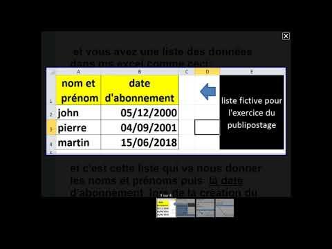 Date francaise publipostage