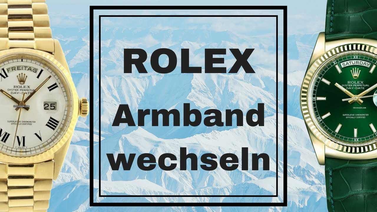 Rolex Armband wechseln, Submariner Uhrenarmband tauschen, Datejust Lederarmband entfernen - YouTube