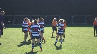 Erin Durston Hillyer GCSE PE Rugby skills   Tojans v Havant 23 9 18 Orange No2