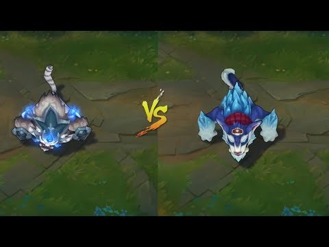 SSG Gnar Skin vs Snow Day Gnar Skins Comparison (League of Legends)