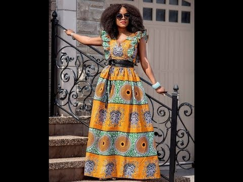 Check Out These Lovely Maxi Dresses: Best African Slit Print Design For Loveliest