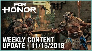 For Honor: Week 11/15/2018 | Weekly Content Update | Ubisoft [NA]