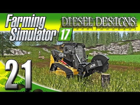 Farming Simulator 2017 Gameplay :EP21: Stump Grinders & Bail Wrappers! (PC HD Goldcrest Valley)