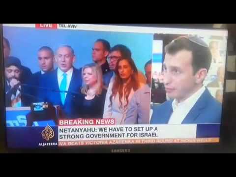 Avi Hyman speaks from Likud HQ Following Netanyahu's Victory Speech