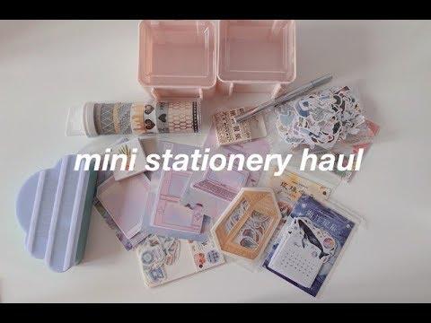 mini stationery haul