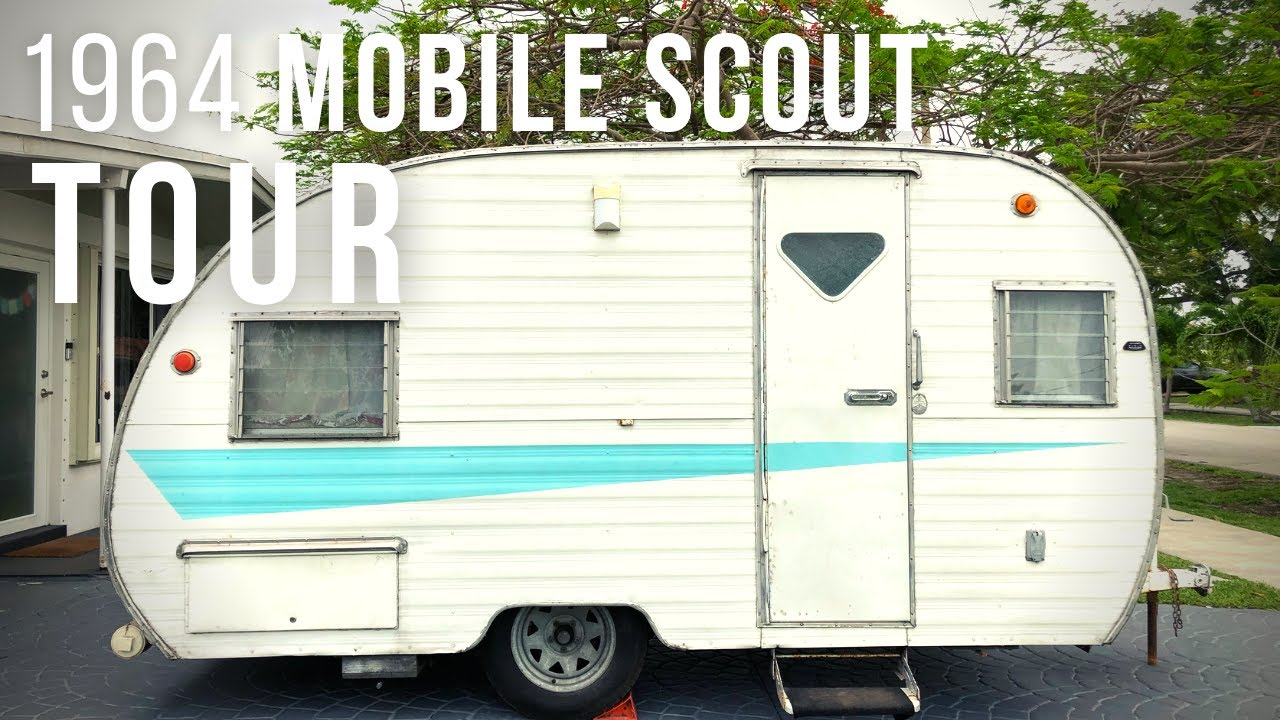 TOUR OF OUR 1964 MOBILE SCOUT VINTAGE CAMPER