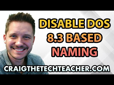 Faster Vista! [HD] Ep. 25: Disable DOS Based 8.3 Naming Conventions for Legacy Software