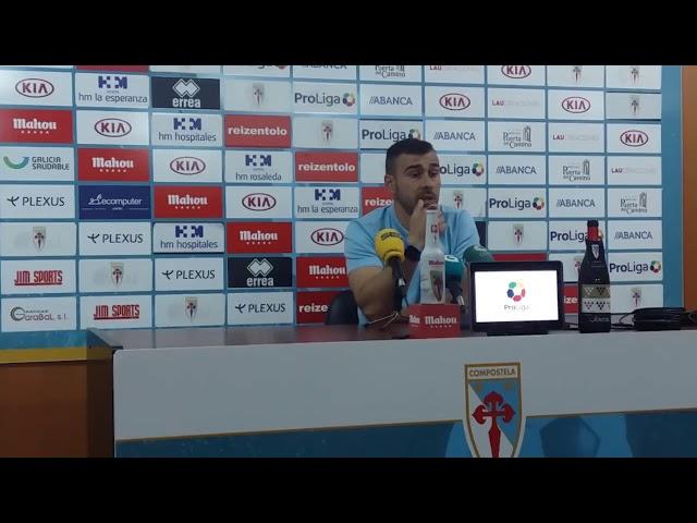 Yago Iglesias y Álex Ares post partido Espanyol B