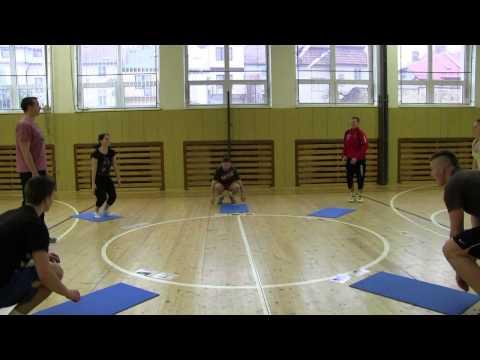 Výuka CLIL v tělovýchově a sportu, dynamická rozcvička (HD) 2012