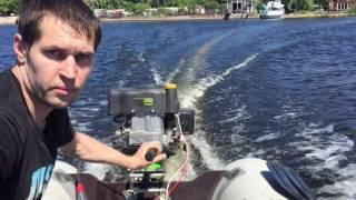 видео лодочный мотор болотоход