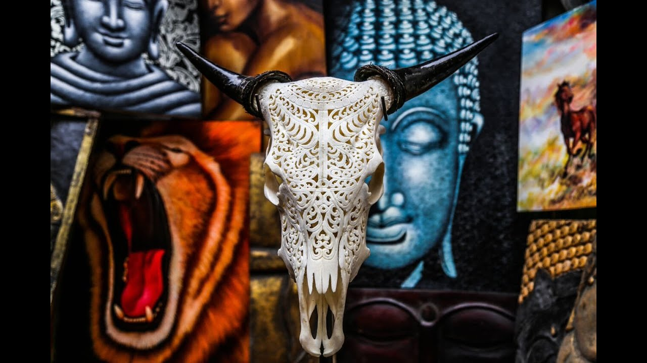 bull skull art for your office bull skull carvings youtube