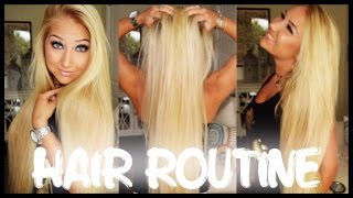 ♡ My Hair Routine ♡ | Wet to Dry + Coconut Oil