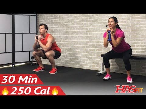 30 Minute Beginner Weight Training for Beginners – Home Strength Training Full Body Dumbbell Workout