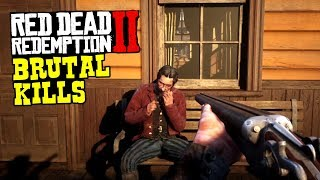 Red Dead Redemption 2  Gore - Funny & Brutal Moments Compilation Vol.1