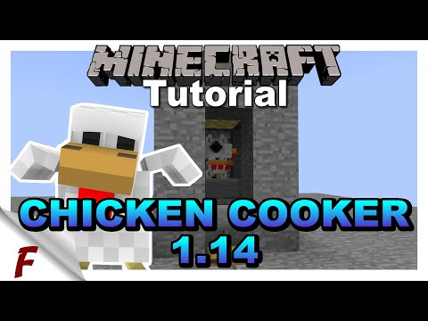 ✅-minecraft-java-1.14-automatic-chicken-cooker-tutorial-cooked-farm-**read-the-description**