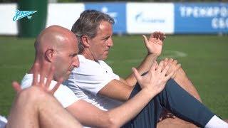 «Зенит-ТВ»: первая тренировка под руководством Манчини