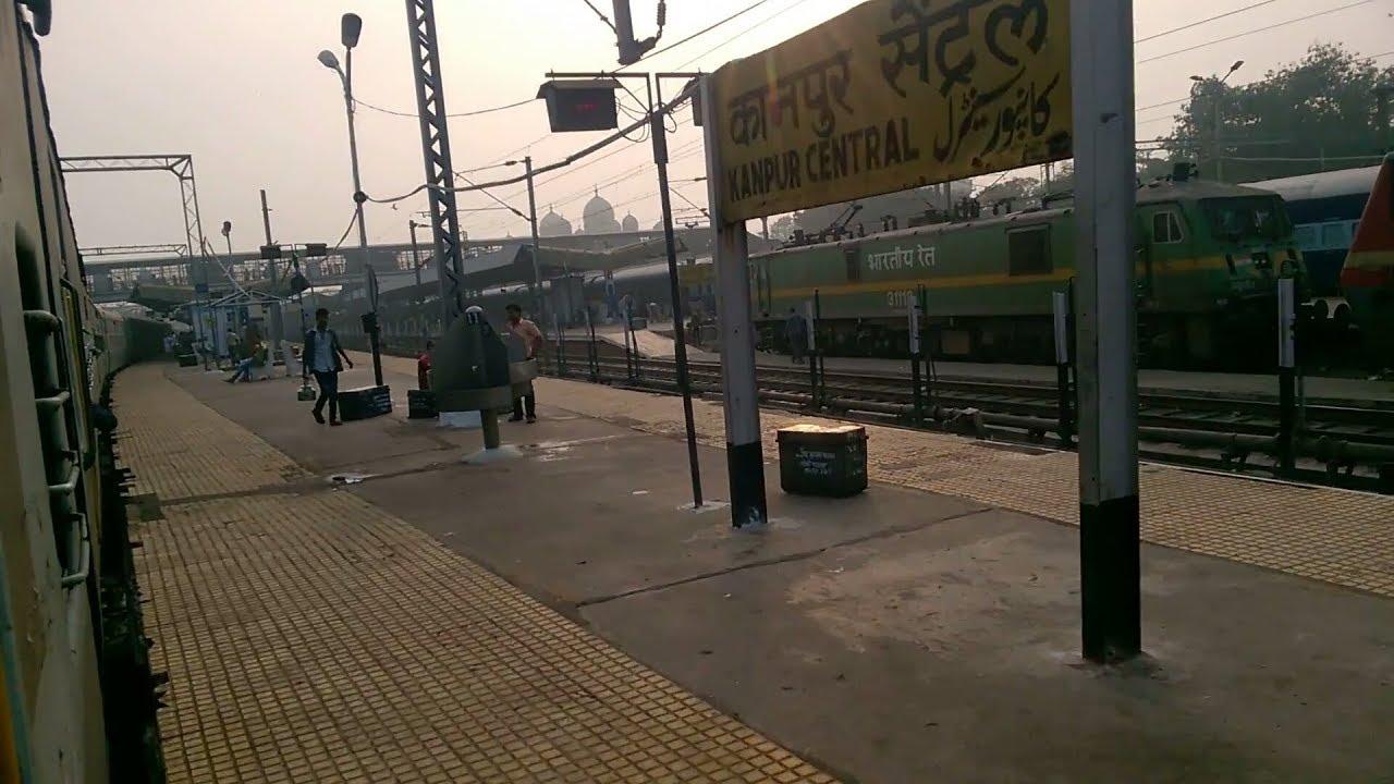 22428 Anand Vihar Terminal - Ballia Bhrigu SuperFast Entering Kanpur Central