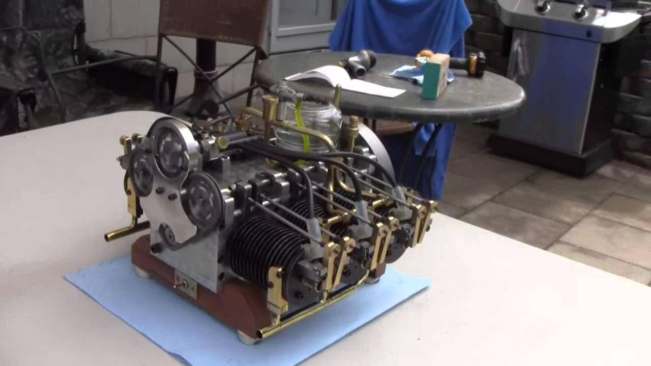 Miniature 6 Cylinder Boxer Engine Youtube