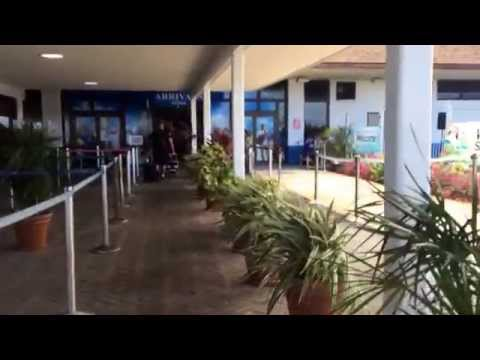 After exiting the plane, and walking into the Grand Cayman airport 5.22.14