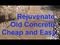 Acid wash concrete. Acid stain old concrete. General contractor concrete work.