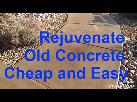 Acid wash concrete. Acid stain old concrete. General contractor concrete work.
