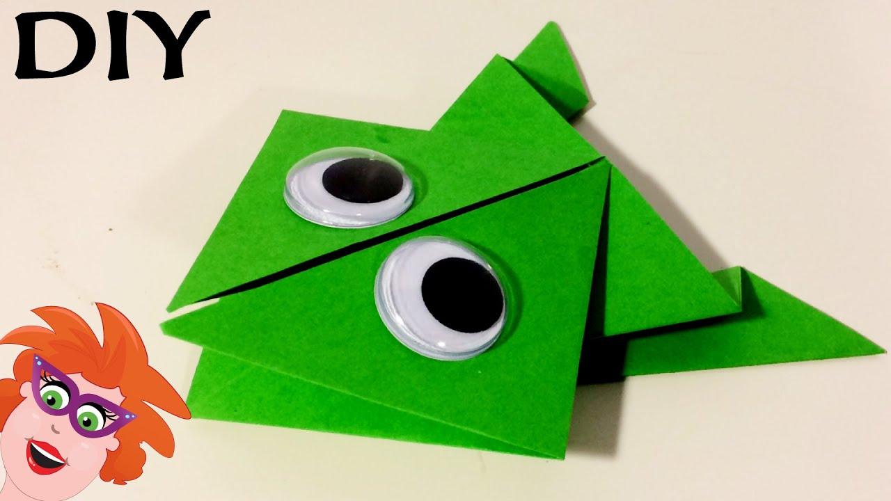 Origami Met Juf Jannie Kikker Vouwen Van Papier Youtube