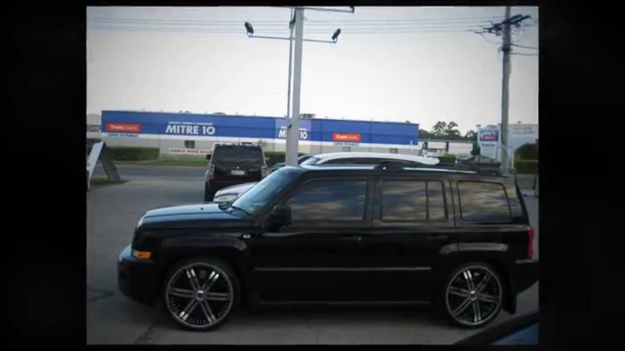 Custom Jeep Patriot >> F1 Wheel & Tyre: Jeep Patriot custom lowered rolling 22 inch custom rims - YouTube