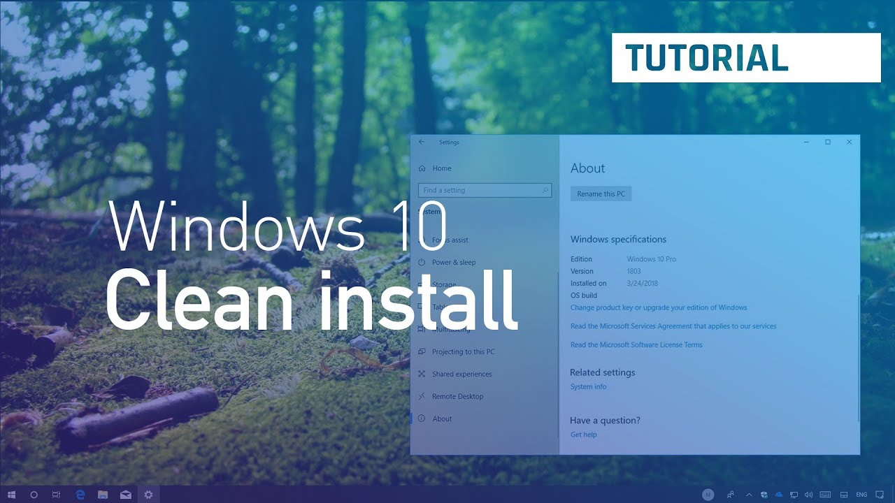 win10 upgrade clean install
