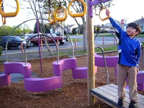 "Alan ""monkeying"" around at Garfield Elementary school."