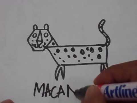 Cara Mudah Menggambar Hewan Macan Tutul Untuk Aak Anak Youtube