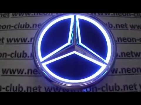 Benz cars light, Mercedes emblem and badge ebay - mercedes led - auto 12v led lights