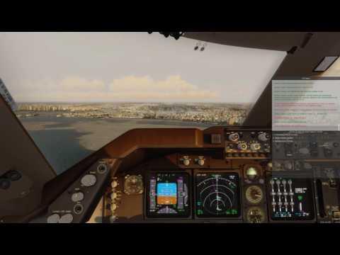 P3D V3.4 | PMDG 747 V3 - Dubai OMDB Sunset Landing