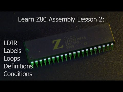Learn Z80 assembly Lesson 2 - LDIR, Labels, Definitions, Con