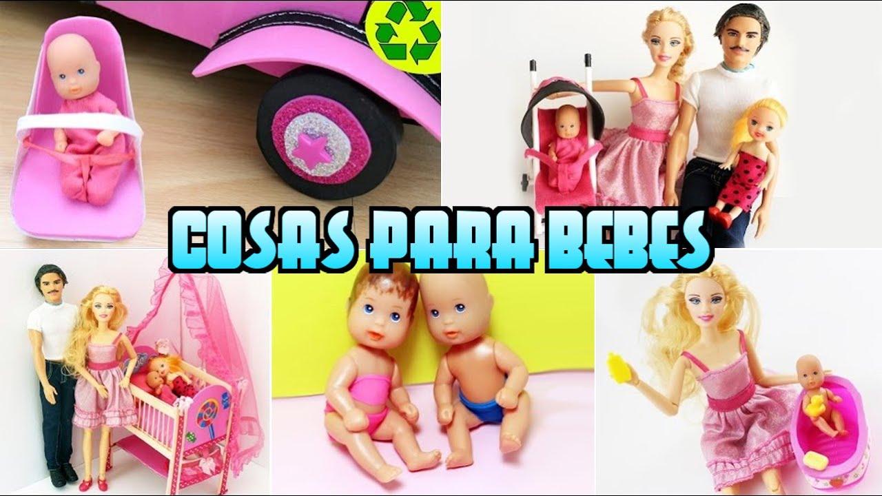 Recopilación 5 Manualidades para bebes de Barbie [pañales, bañera ...