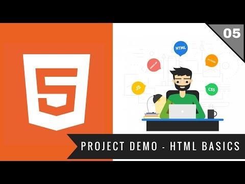 5 - Project Demo - Html Basics | Full Stack Web Development Course | Hindi | 2018