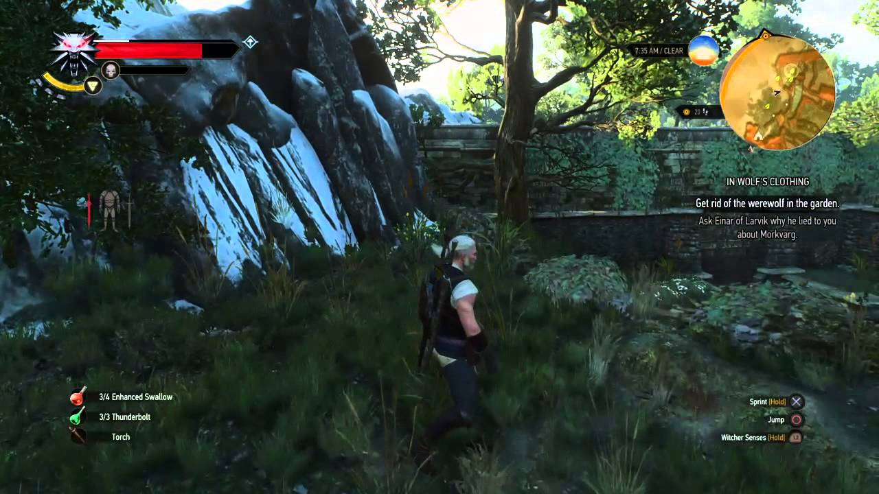 the witcher 3 in wolf 39 s clothing how to get rid of the werewolf in the garden youtube